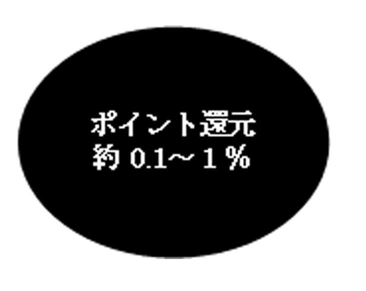 ポイント還元0.1~1.0%